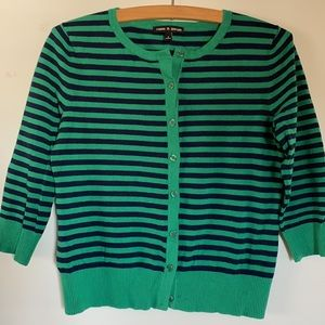 Striped Button Up Cardigan